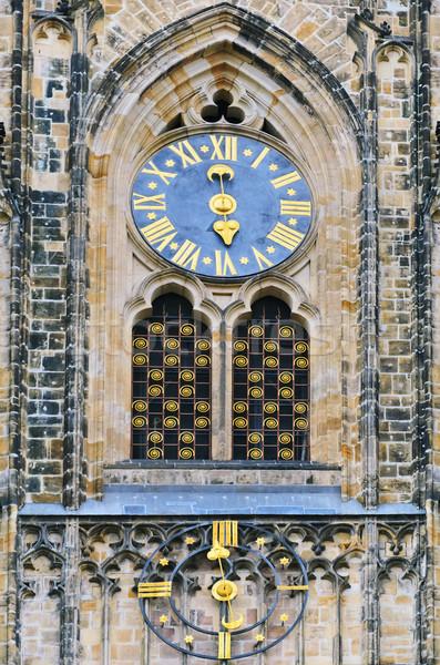 St. Vitus Cathedral Clock Stock photo © SRNR