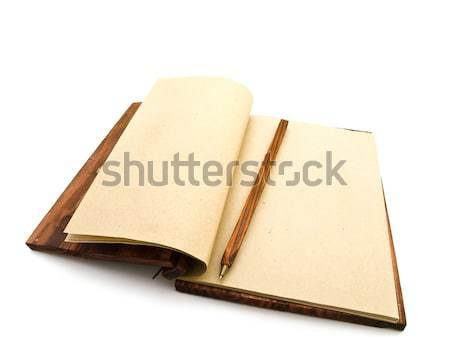 Caderno vazio branco livro projeto Foto stock © SRNR