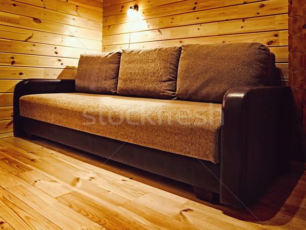 Foto stock: Sofá · canto · quarto · parede · luz · mobiliário