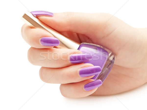 Nail polish in hand Stock photo © SRNR