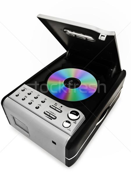 Cd jugador moderna digital disco blanco Foto stock © SRNR