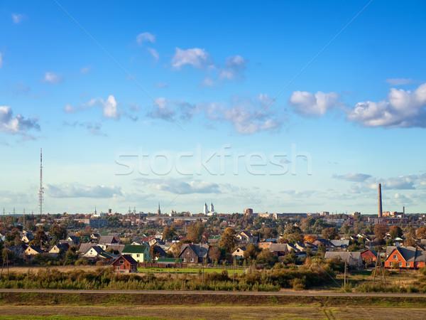 Stad stad blauwe hemel abstract natuur Stockfoto © SRNR