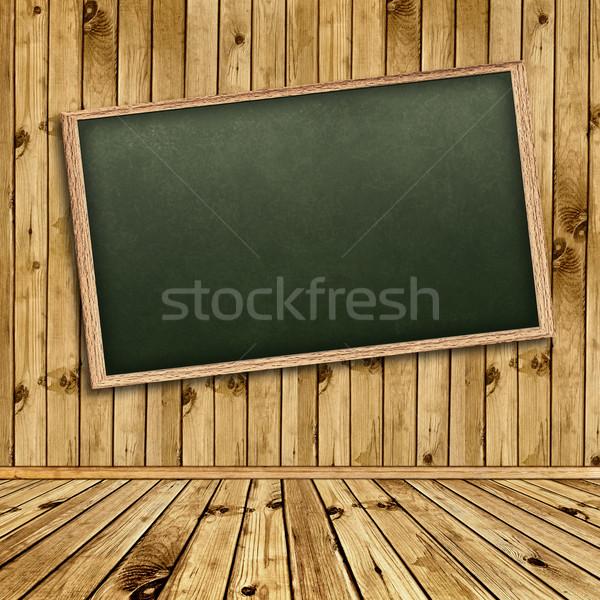 Oktatás üres iskola iskolatábla fal fából készült Stock fotó © SRNR