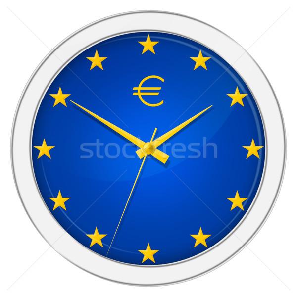 Euro Clock Stock photo © SRNR