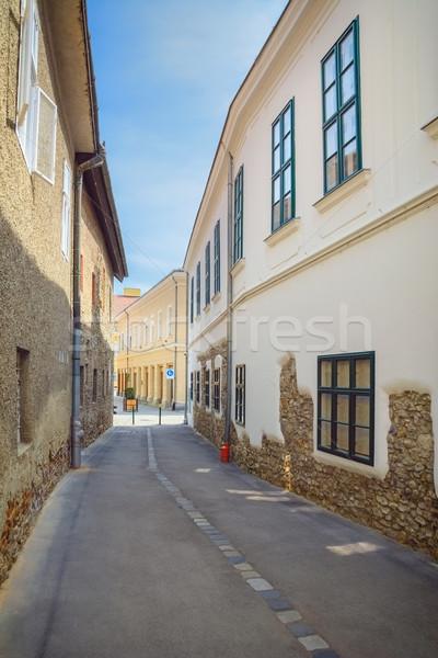 узкий улице старые город дома здании Сток-фото © SRNR