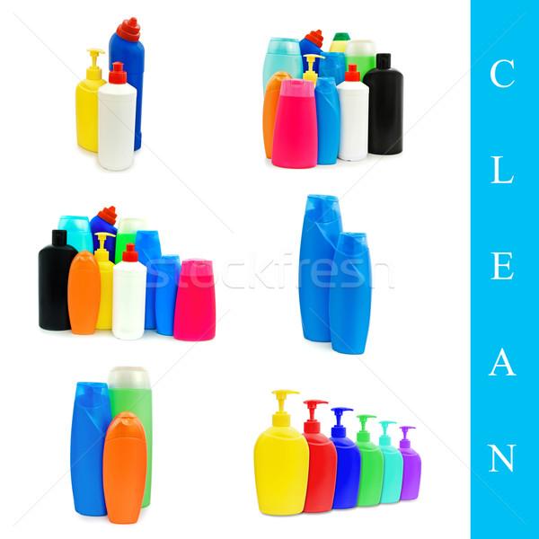 plasrtic bottles set Stock photo © SRNR