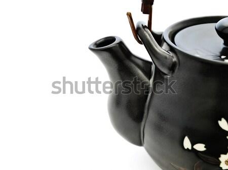 Stockfoto: Thee · ceremonie · China · tafelgerei · theepot · kom