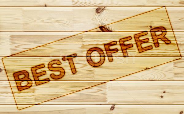 Membro o melhor oferecer superfície madeira Foto stock © SRNR