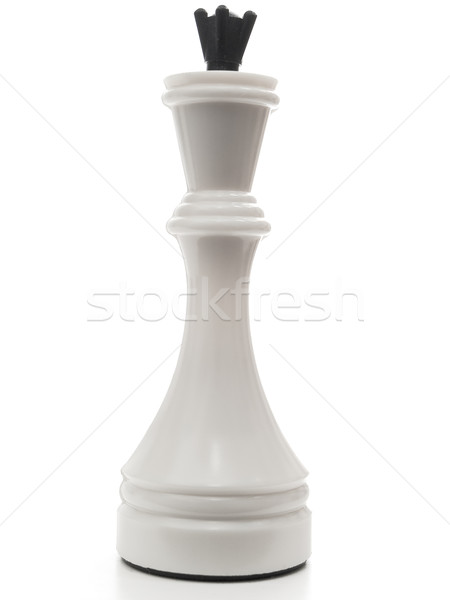 Beyaz kral satranç güç başarı oyun Stok fotoğraf © SRNR