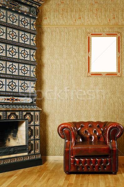 Chair Near Fireplace Stock photo © SRNR