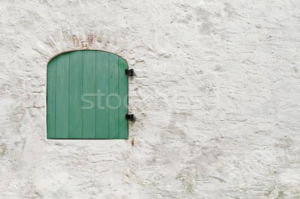 окна жалюзи стены закрыто зеленый Сток-фото © SRNR