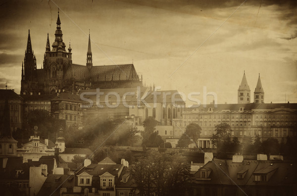 Old Photo Of Prague  Stock photo © SRNR