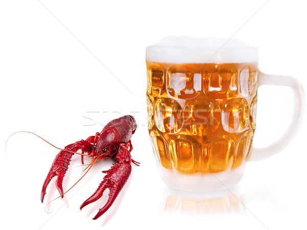 crawfish and beer Stock photo © SRNR