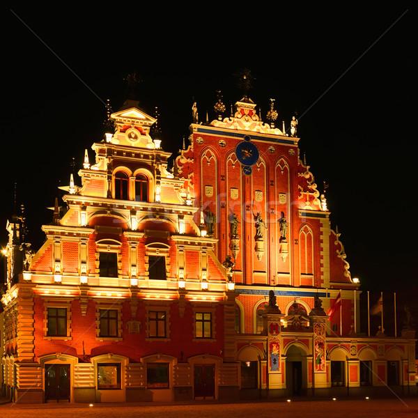 家 古い リガ ラトビア 市 旅行 ストックフォト © SRNR