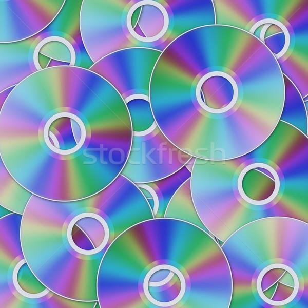 Cd lemez fotó hang adat lemez Stock fotó © SRNR