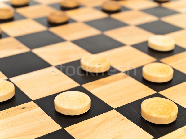 checkers in game Stock photo © SRNR