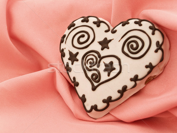 heart spice cake Stock photo © SRNR