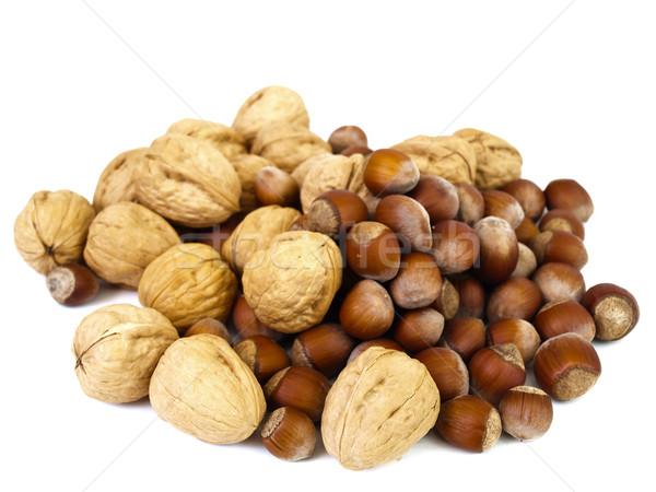 hazelnuts and walnuts Stock photo © SRNR
