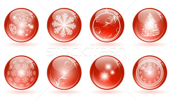 Christmas glossy balls Stock photo © SRNR