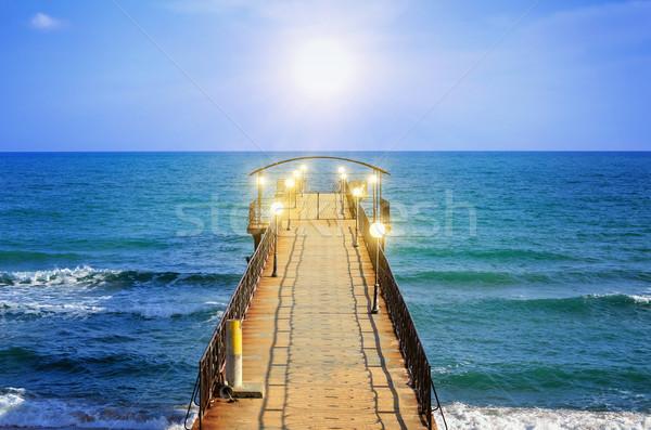 Molo widoku czarny morza wody charakter Zdjęcia stock © SRNR