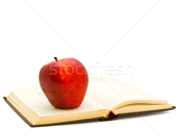 Apple On The Book Stock photo © SRNR