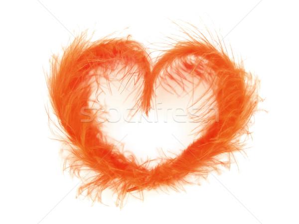 Amour aéré rouge coeur blanche résumé Photo stock © SRNR
