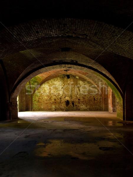 öreg erőd penészes falak bent fal Stock fotó © SRNR
