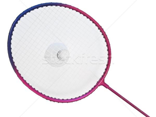 Badminton racket and shuttlecock against the white background  Stock photo © SRNR