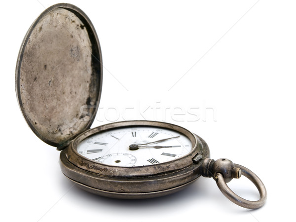 Silver Pocket Watch Stock photo © SRNR