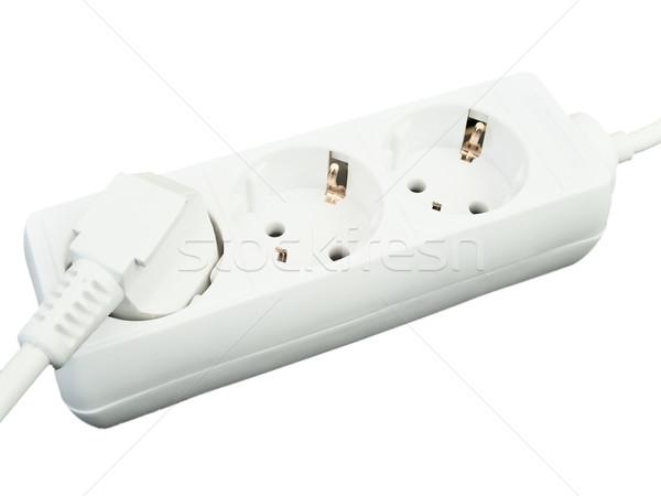 Cordão branco foto tecnologia energia elétrico Foto stock © SRNR