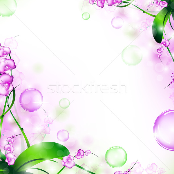 Stockfoto: Frame · natuur · lucht · bubbels · bloem
