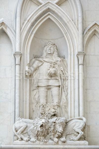 Escultura rey tres hombre cuerpo arte Foto stock © SRNR