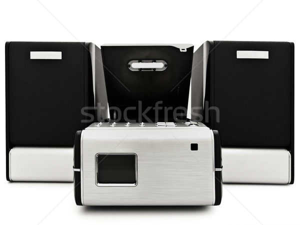 Moderno digital cd jogador branco tecnologia Foto stock © SRNR