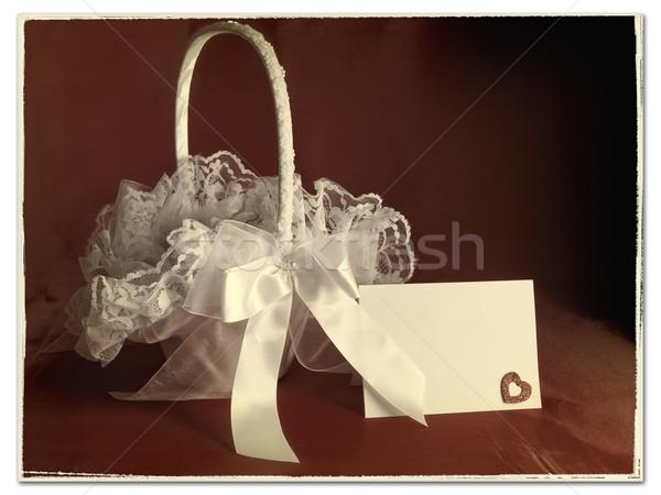 Cesta velho estilizado imagem flor Foto stock © SRNR