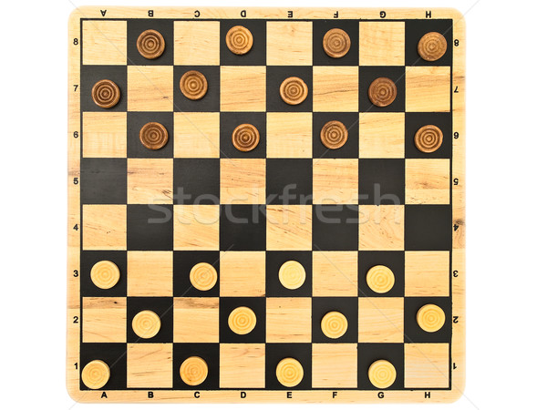 Jogo foto branco xadrez brinquedo jogar Foto stock © SRNR