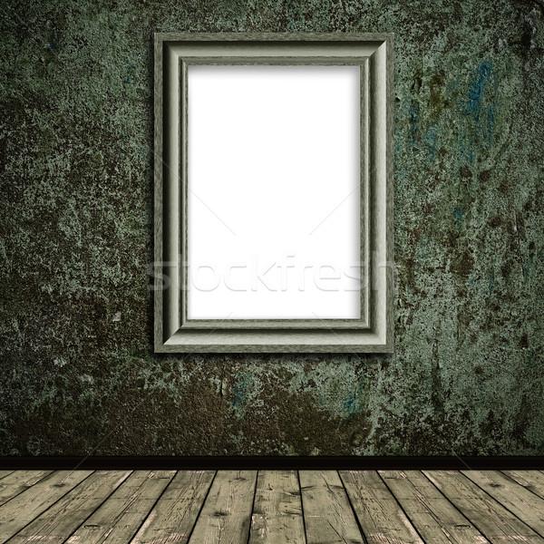 Klasszikus keret fakeret absztrakt grunge fal Stock fotó © SRNR