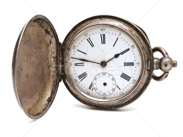 öreg zseb óra fehér kéz fém Stock fotó © SRNR
