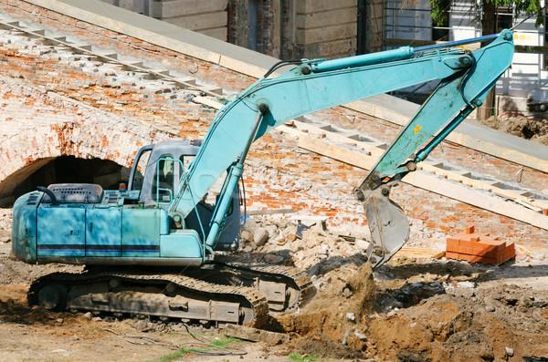 operating excavator Stock photo © SRNR