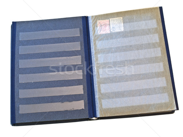 Isolated stamp album with some stamps against the white background Stock photo © SRNR
