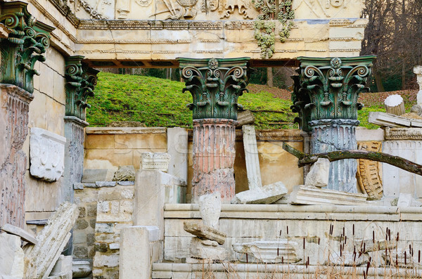 Roman ruiny pałac ogród Wiedeń Austria Zdjęcia stock © SRNR