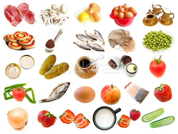 セット 異なる 食品 ドリンク ポートフォリオ ストックフォト © SRNR