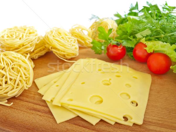élelmiszer sajt tészta zöldségek Stock fotó © SRNR