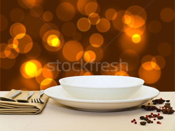 Festive Table Serving Stock photo © SRNR