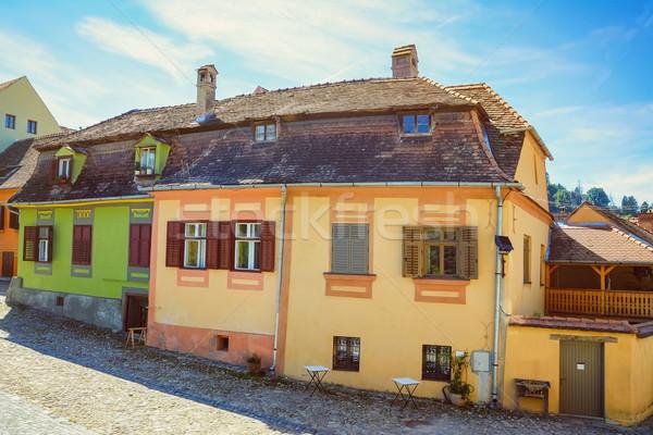 Oude huis middeleeuwse stad huis stad straat Stockfoto © SRNR