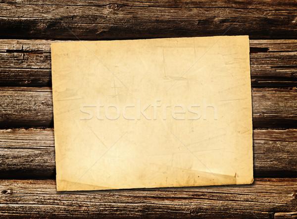 Vel papier houten textuur retro vuil Stockfoto © SRNR