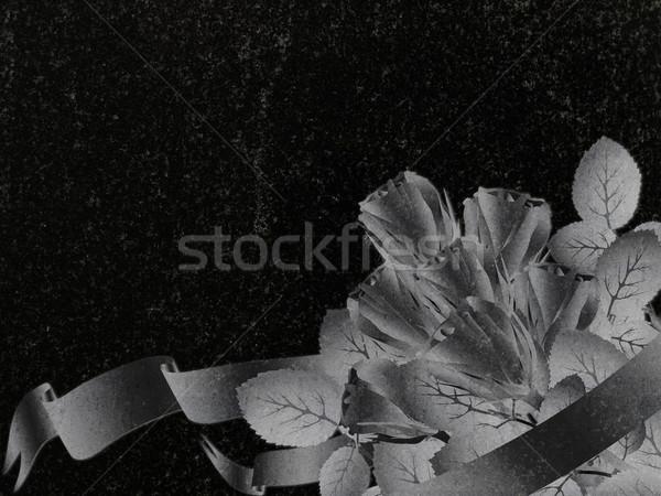 Decorado granito rosa decoração preto lápide Foto stock © SRNR