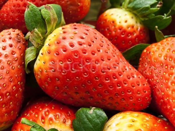 Jardim morango foto delicioso vermelho fruto Foto stock © SRNR