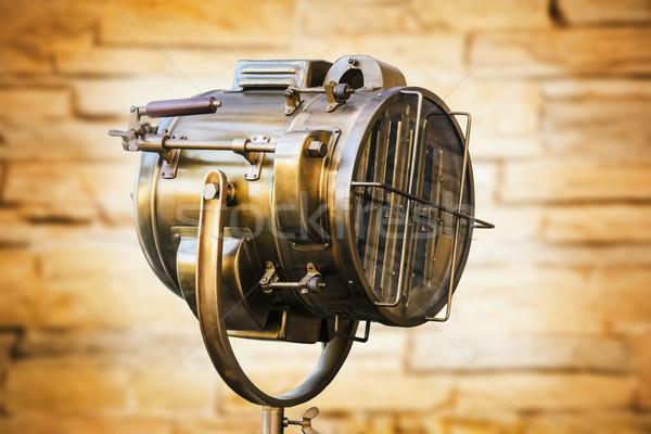Eski bakır projektör Stok fotoğraf © SRNR