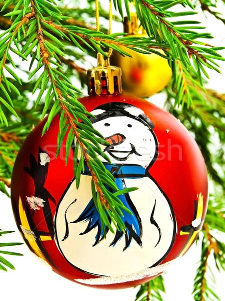 赤 おもちゃ 雪だるま ブランチ ストックフォト © SRNR