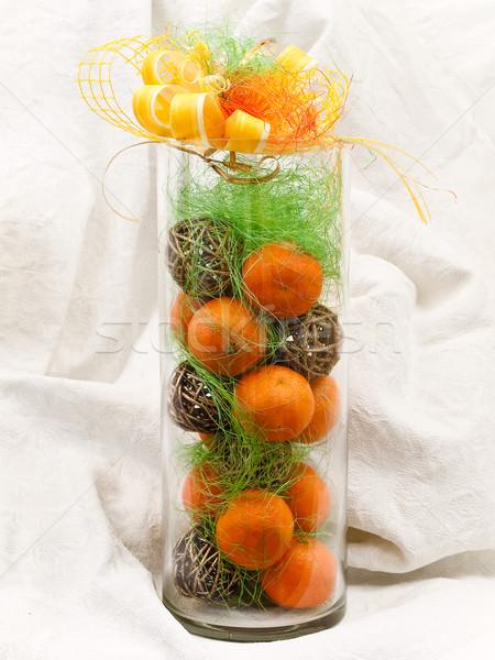 mandarines decoration Stock photo © SRNR